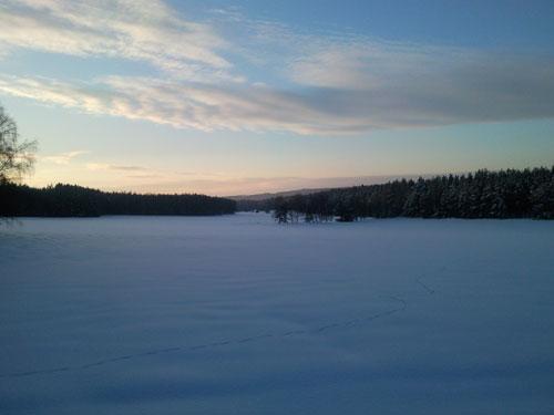 Zima vokolí Bílova